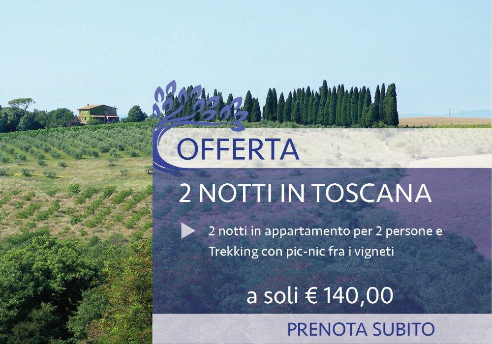 Offerta Fine Settembre in Toscana Con Trekking fra i Vigneti