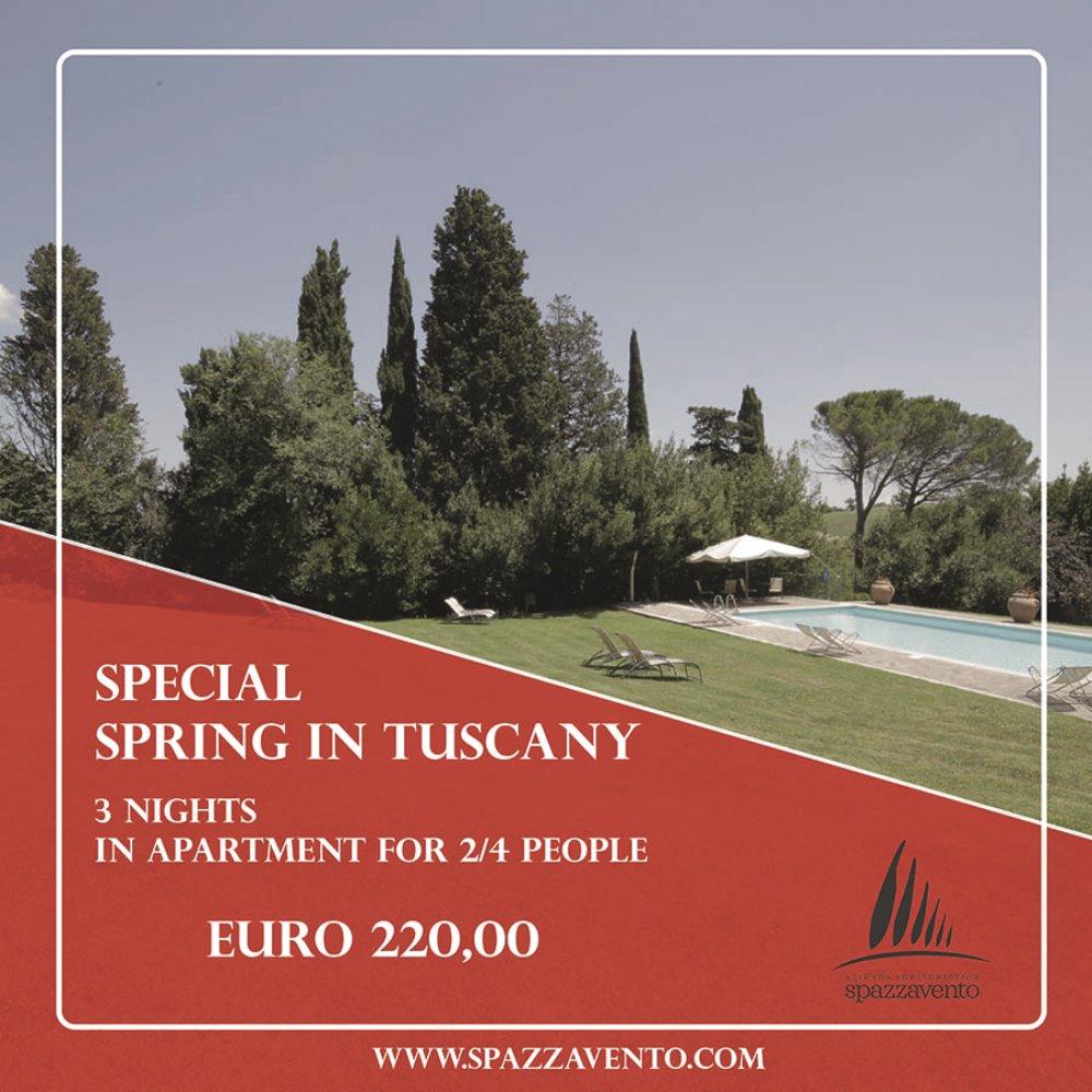 Special Spring in Tuscany 3 notti in appartamento per 2 o 4 persone